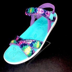 Keen Phoebe Purple Tie Dye Sandal Girls Size 3